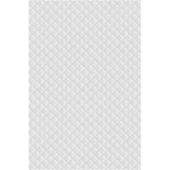 Bright White Stitched and Quilted Pattern 5.5  x 8.5  Notebooks
