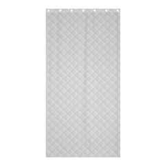 Bright White Stitched and Quilted Pattern Shower Curtain 36  x 72  (Stall)