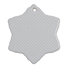 Bright White Stitched and Quilted Pattern Ornament (Snowflake)