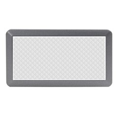 Bright White Stitched and Quilted Pattern Memory Card Reader (Mini)
