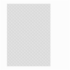 Bright White Stitched and Quilted Pattern Small Garden Flag (Two Sides)