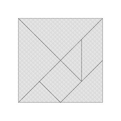 Bright White Stitched and Quilted Pattern Acrylic Tangram Puzzle (4  x 4 )