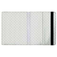 Bright White Stitched and Quilted Pattern Apple iPad 3/4 Flip Case