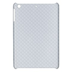 Bright White Stitched and Quilted Pattern Apple iPad Mini Hardshell Case