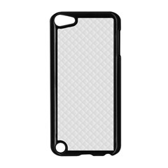 Bright White Stitched and Quilted Pattern Apple iPod Touch 5 Case (Black)