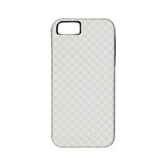 Bright White Stitched and Quilted Pattern Apple iPhone 5 Classic Hardshell Case (PC+Silicone)