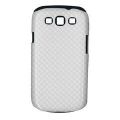 Bright White Stitched and Quilted Pattern Samsung Galaxy S III Classic Hardshell Case (PC+Silicone)