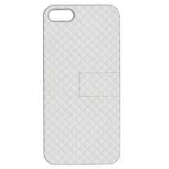 Bright White Stitched and Quilted Pattern Apple iPhone 5 Hardshell Case with Stand