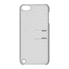 Bright White Stitched and Quilted Pattern Apple iPod Touch 5 Hardshell Case with Stand