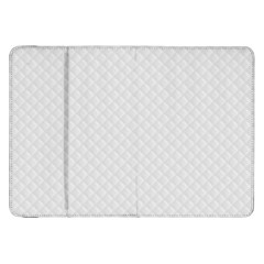 Bright White Stitched and Quilted Pattern Samsung Galaxy Tab 8.9  P7300 Flip Case