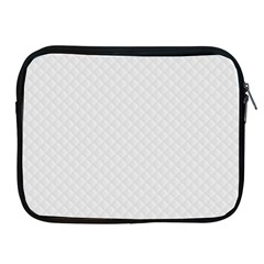 Bright White Stitched and Quilted Pattern Apple iPad 2/3/4 Zipper Cases