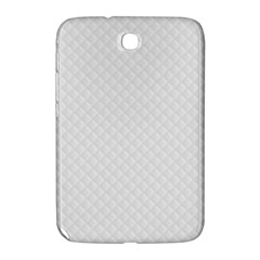 Bright White Stitched and Quilted Pattern Samsung Galaxy Note 8.0 N5100 Hardshell Case