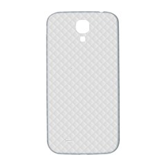 Bright White Stitched and Quilted Pattern Samsung Galaxy S4 I9500/I9505  Hardshell Back Case
