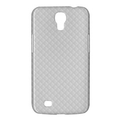 Bright White Stitched and Quilted Pattern Samsung Galaxy Mega 6.3  I9200 Hardshell Case