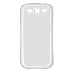 Bright White Stitched and Quilted Pattern Samsung Galaxy S3 Back Case (White)