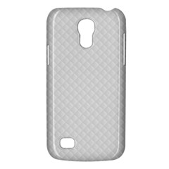 Bright White Stitched and Quilted Pattern Galaxy S4 Mini