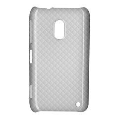 Bright White Stitched and Quilted Pattern Nokia Lumia 620