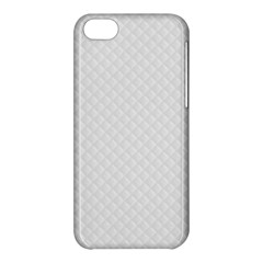 Bright White Stitched and Quilted Pattern Apple iPhone 5C Hardshell Case