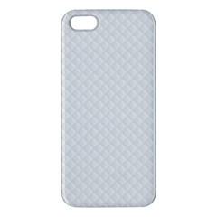 Bright White Stitched and Quilted Pattern iPhone 5S/ SE Premium Hardshell Case
