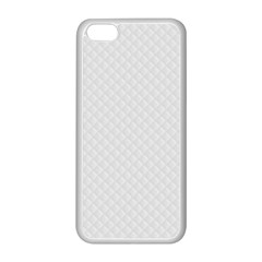 Bright White Stitched and Quilted Pattern Apple iPhone 5C Seamless Case (White)