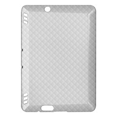 Bright White Stitched and Quilted Pattern Kindle Fire HDX Hardshell Case