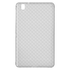 Bright White Stitched and Quilted Pattern Samsung Galaxy Tab Pro 8.4 Hardshell Case
