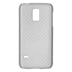 Bright White Stitched and Quilted Pattern Galaxy S5 Mini