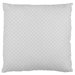Bright White Stitched and Quilted Pattern Standard Flano Cushion Case (Two Sides)