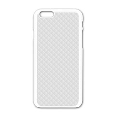 Bright White Stitched and Quilted Pattern Apple iPhone 6/6S White Enamel Case