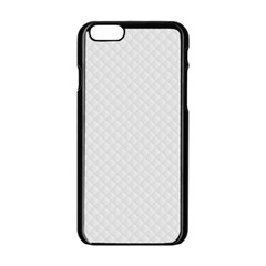 Bright White Stitched and Quilted Pattern Apple iPhone 6/6S Black Enamel Case