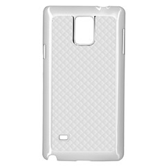 Bright White Stitched and Quilted Pattern Samsung Galaxy Note 4 Case (White)