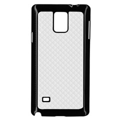 Bright White Stitched and Quilted Pattern Samsung Galaxy Note 4 Case (Black)