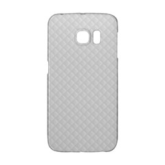 Bright White Stitched and Quilted Pattern Galaxy S6 Edge