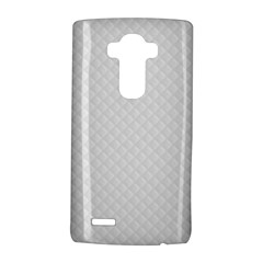 Bright White Stitched and Quilted Pattern LG G4 Hardshell Case