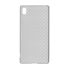 Bright White Stitched and Quilted Pattern Sony Xperia Z3+
