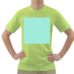Tiffany Aqua Blue Diagonal Sailor Stripes Green T-Shirt