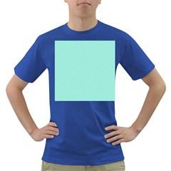 Tiffany Aqua Blue Diagonal Sailor Stripes Dark T-Shirt