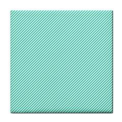 Tiffany Aqua Blue Diagonal Sailor Stripes Face Towel