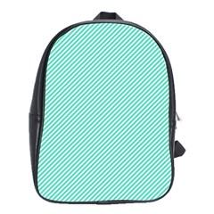 Tiffany Aqua Blue Diagonal Sailor Stripes School Bags(Large)