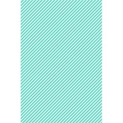 Tiffany Aqua Blue Diagonal Sailor Stripes 5.5  x 8.5  Notebooks