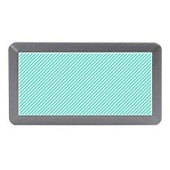 Tiffany Aqua Blue Diagonal Sailor Stripes Memory Card Reader (Mini)