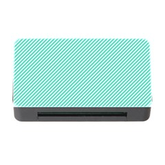 Tiffany Aqua Blue Diagonal Sailor Stripes Memory Card Reader with CF