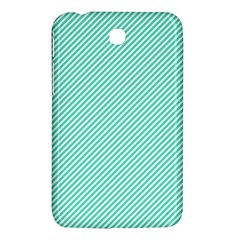 Tiffany Aqua Blue Diagonal Sailor Stripes Samsung Galaxy Tab 3 (7 ) P3200 Hardshell Case