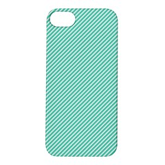 Tiffany Aqua Blue Diagonal Sailor Stripes Apple iPhone 5S/ SE Hardshell Case