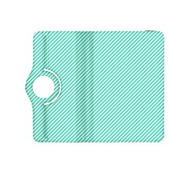 Tiffany Aqua Blue Diagonal Sailor Stripes Kindle Fire HDX 8.9  Flip 360 Case