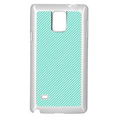 Tiffany Aqua Blue Diagonal Sailor Stripes Samsung Galaxy Note 4 Case (White)