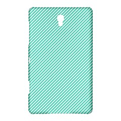 Tiffany Aqua Blue Diagonal Sailor Stripes Samsung Galaxy Tab S (8.4 ) Hardshell Case