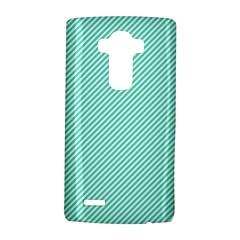 Tiffany Aqua Blue Diagonal Sailor Stripes LG G4 Hardshell Case