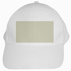 Rich Cream Stitched and Quilted Pattern White Cap
