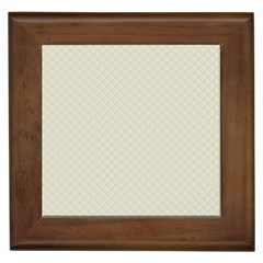 Rich Cream Stitched and Quilted Pattern Framed Tiles